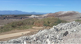 Pad ore on Leach Pad and Recovery Conveyor System